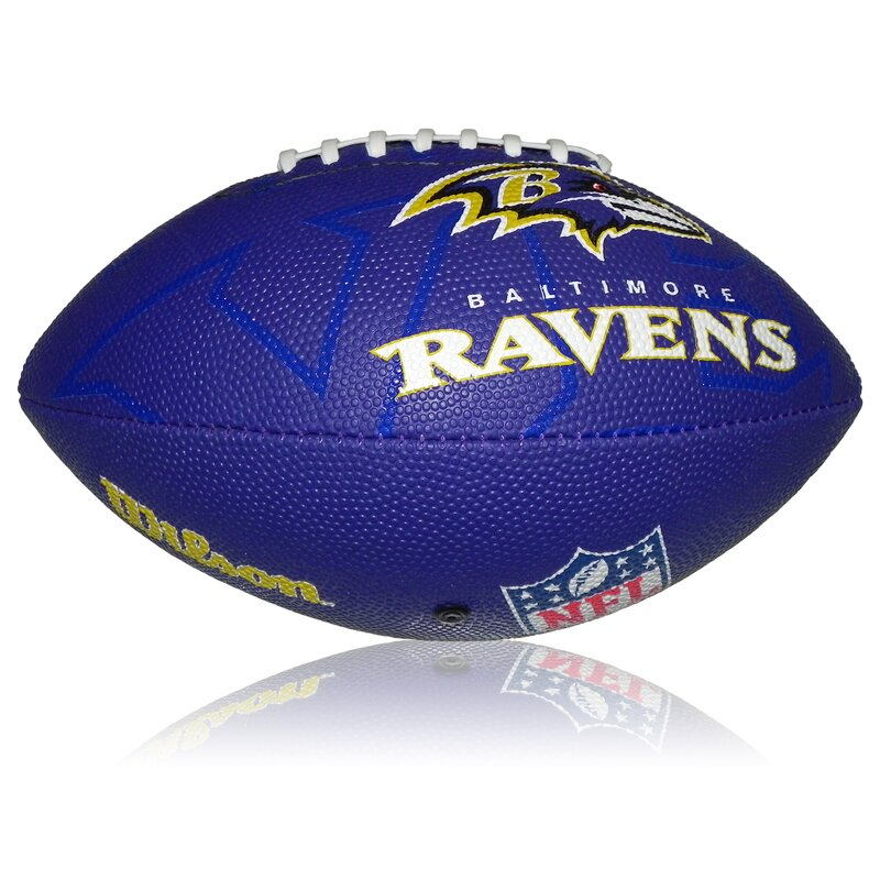 Wilson NFL Junior Baltimore Ravens Logo Football