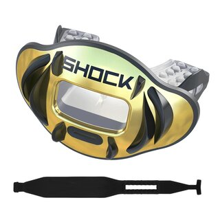 Shock Doctor Max AirFlow 2.0 Fang chrome gold Mundstück...