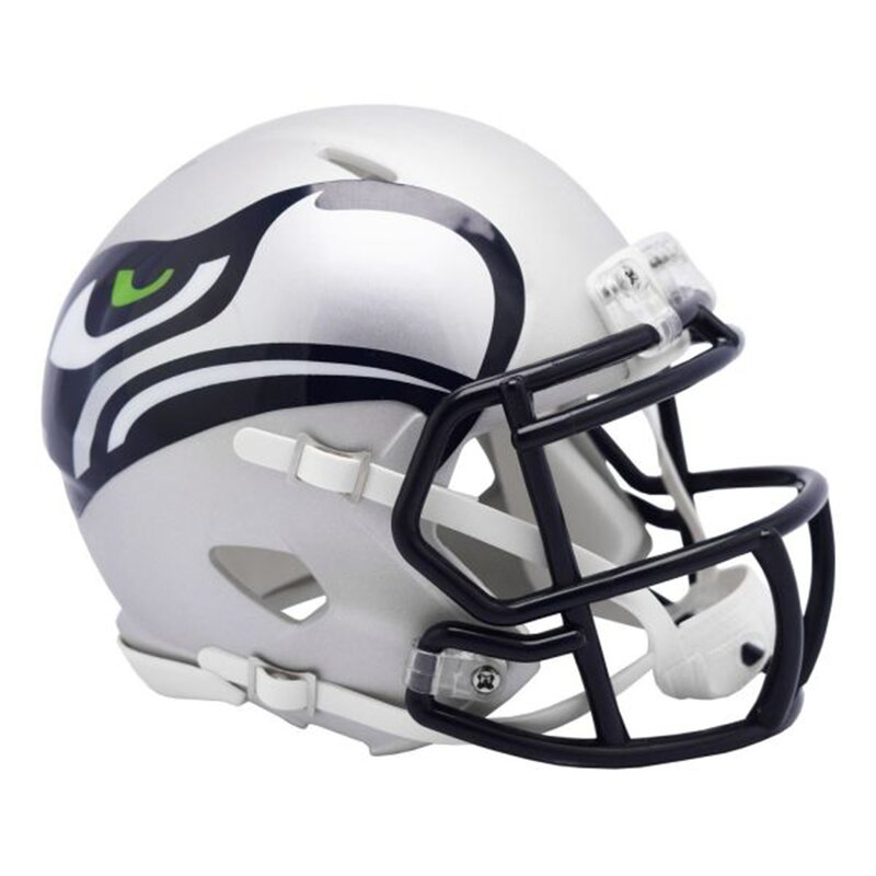 NFL AMP Team Seattle Seahawks Riddell Speed Replica Mini Helm